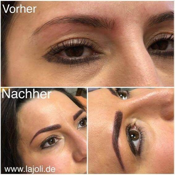 Augenbrauen Permanent Make Up Bilder - LAJOLI Studio Hamburg Leja - Blading eyebrow - 1802