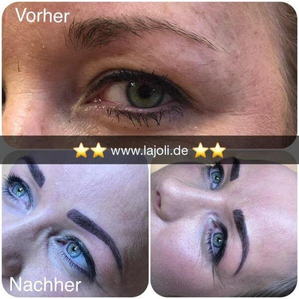 Augenbrauen Permanent Make Up Bilder - LAJOLI Studio Hamburg Leja - Blading eyebrow - 1801