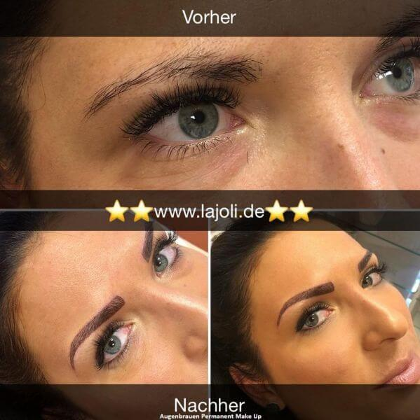 Augenbrauen Permanent Make Up Bilder - LAJOLI Hamburg Leja - Blading eyebrow - 1803