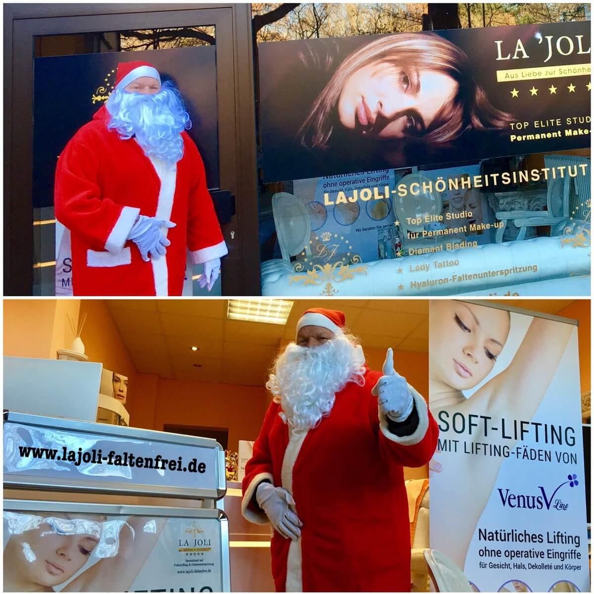 Besuch vom Weihnachtsmann im LAJOLI Studio am ersten Advent