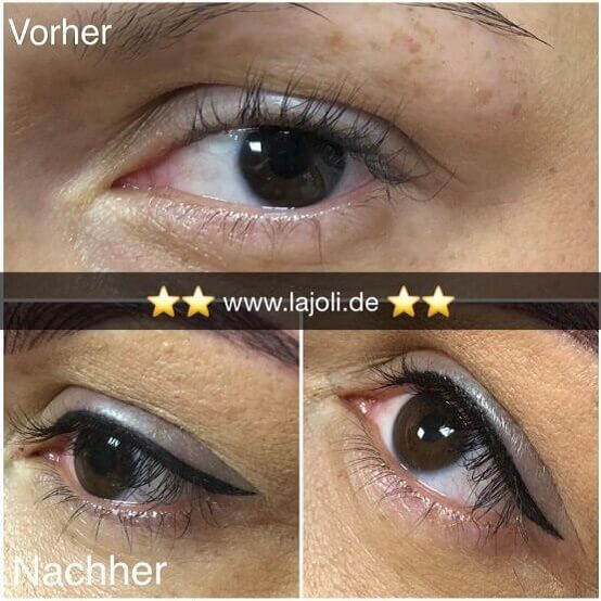 Bilder Permanent Make Up Lidstriche - Manuela Leja LAJOLI - Wimpernkranzverdichtung, Eyebrow 01