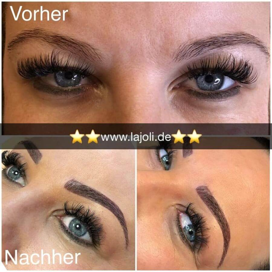 Augenbrauen Permanent Make Up Bilder - LAJOLI Hamburg Leja - Blading eyebrow