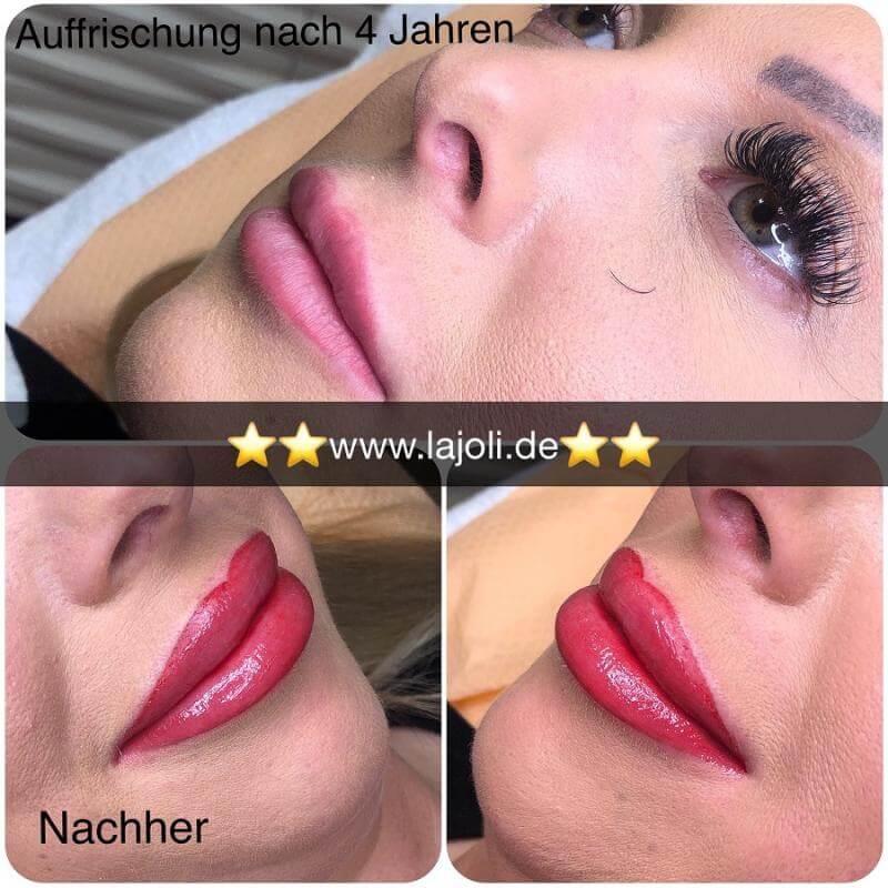 Lippen Permanent Make Up Bilder von LAJOLI Manuela Leja Lips Hamburg - Lippen aufspritzen