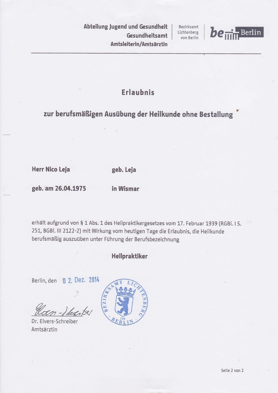 Heilpraktiker - Praxis für Ästhetik in Hamburg