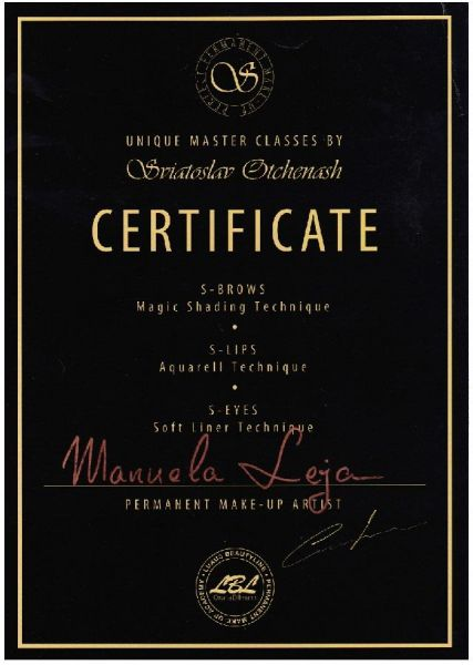 LAJOLI Permanent Make Up MasterClass Zertifikat bei Sviatoslav Otchenash - Augenbrauen, Lippen, Lidstrich - Manuela Leja - lips, eyebrows
