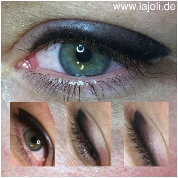Bilder Permanent Make Up schattierter Lidstrich oben - Manuela Leja LAJOLI - Wimpernkranzverdichtung, Eyebrow 03