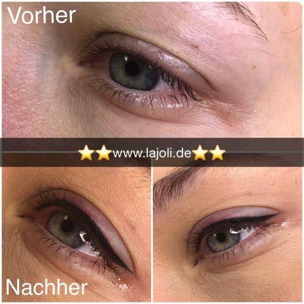 Bilder Permanent Make Up Lidstriche oben – Manuela Leja LAJOLI – Wimpernkranzverdichtung, Eyebrow 04
